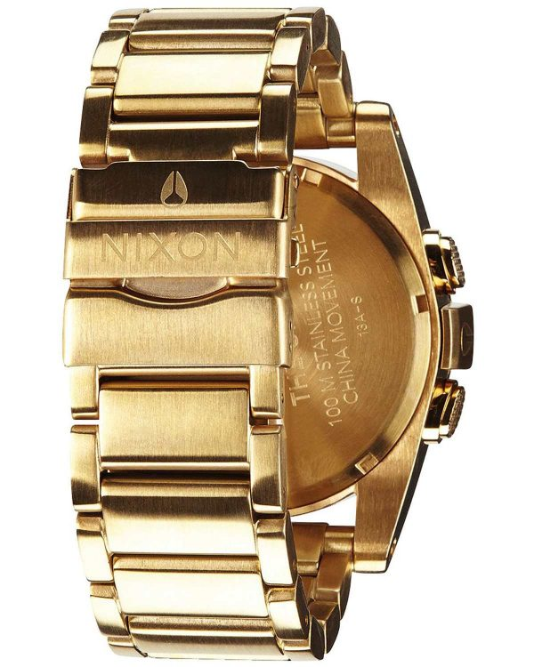 NIXON Unit SS Chronograph Gold Stainless Steel Bracelet